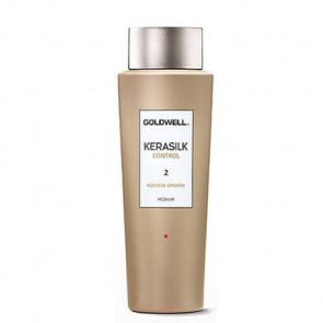 GOLDWELL KERASILK CONTROL SMOOTH MEDIUM (2) 500ml / tratamiento queratina / alisado del cabello sano, ligeramente dañado y/o fino