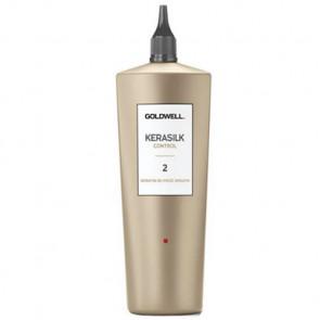 GOLDWELL KERASILK CONTROL (2) DE-FRIZZ SMOOTH 500ml / Queratina + Seda líquida / Cabello liso de 4 a 6 semanas