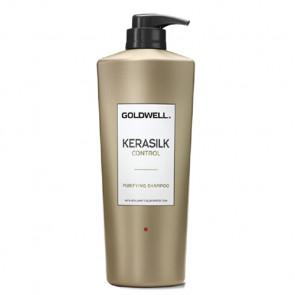 GOLDWELL KERASILK CONTROL PURIFYING CHAMPÚ 1000ml / limpieza en profundidad / prepara el cabello para el tratamiento de queratina