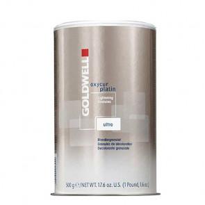 GOLDWELL OXYCUR PLATIN ULTRA 500ml / Decoloración precisa de alto rendimiento /  hasta 7 niveles de decoloración (Granulado blanco)