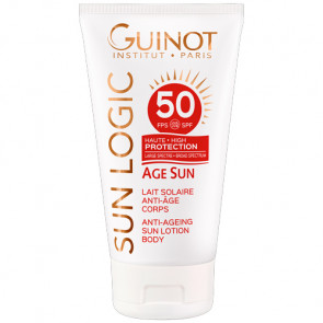 GUINOT LAIT SOLAIRE ANTI-AGE CORPS SPF 50 150ml Protección solar muy alta - cuerpo