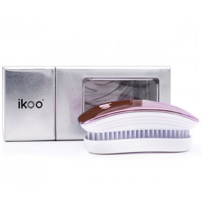 IKOO POCKET ROSE METALLIC - Cepillo para desenredar el pelo (para viaje)