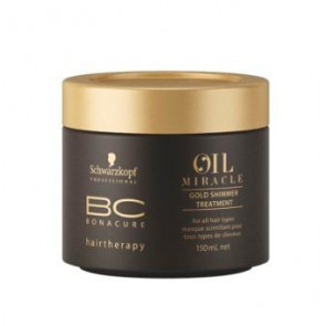 SCHWARZKOPF BC OIL MIRACLE MASCARILLA 150ml brillo dorado