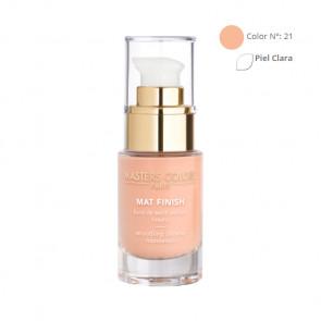 MASTERS COLORS MAT FINISH Color N° 21 30ml - Base de maquillaje unificante y alisadora