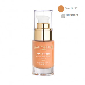 MASTERS COLORS MAT FINISH Color N° 42 30ml - Base de maquillaje unificante y alisadora