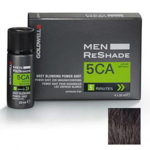 GOLDWELL MEN RESHADE 5CA - POWER SHOT 4 X 20 ml - color ceniza marrón claro