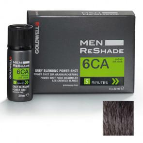 GOLDWELL MEN RESHADE 6CA - POWER SHOT 4 X 20 ml - color ceniza frío rubio oscuro