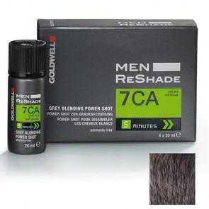 GOLDWELL MEN RESHADE 7CA - POWER SHOT 4 X 20 ml - color ceniza frío rubio medio