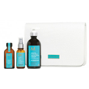 MOROCCANOIL PEINADO 400ml PACK 3 / crema + spray + aceite argan + regalo neceser