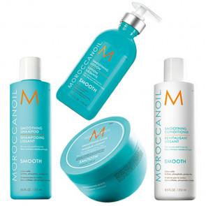 MOROCCANOIL SMOOTH - 1050ml - PACK 18 cabello rebelde / encrespado + loción alisante