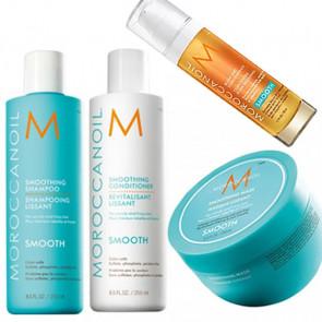 MOROCCANOIL SMOOTH - 800ml - PACK 20 / cabello rebelde - encrespado + crema para puntas y cabellos muy rebeldes