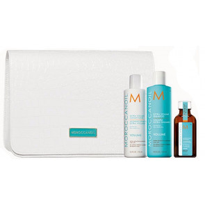 MOROCCANOIL VOLUME 550ml PACK 2 / champu + acondic + aceite argan light + regalo neceser