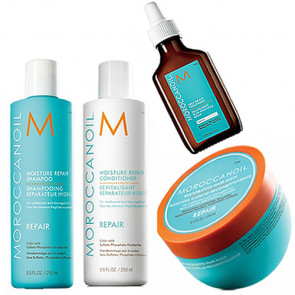MOROCCANOIL REPAIR 795ml PACK 10 - REPARACION cabello graso / dañado / debilitado