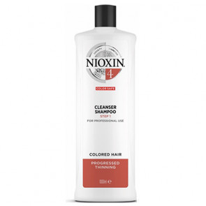 NIOXIN CHAMPU 4 1000ml cabello coloreado, fino y pérdida perceptible
