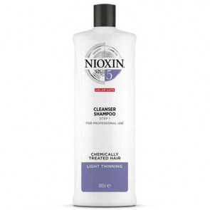 NIOXIN CHAMPU 5 1000ml cabello coloreado o natural, aspecto normal a grueso