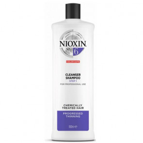 NIOXIN CHAMPU 6 1000ml cabello coloreado o natural con pérdida perceptible