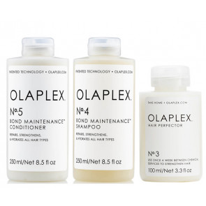 OLAPLEX  KIT HERO BUNDLE - Nº 3, Nº 4 y Nº 5 - 600 ml