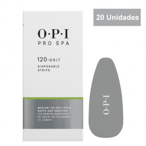 OPI PRO SPA FOOT FILE DISPONSABLE GRIT STRIPS / 120 Grit / Bandas desechables / Grano medio