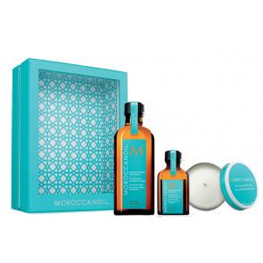 MOROCCANOIL TRATAMIENTO NORMAL PACK  / Aceites de (100ml + 25ml) + regalo de vela aromática