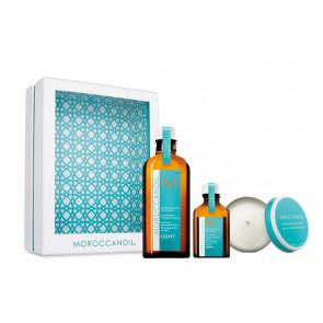MOROCCANOIL TRATAMIENTO LIGTH PACK / Aceites (100ml + 25ml) + regalo de vela aromática
