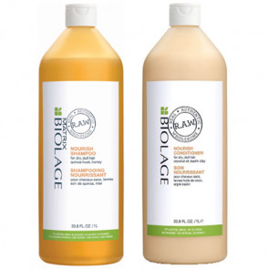 PACK BIOLAGE RAW NOURISH CHAMPÚ 1000 ml + ACONDICIONADOR 1000 ml