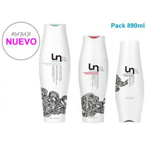 UNWASH / PACK 890ml / bio limpiador + aclarado ani-residuos + mascarilla hidratante