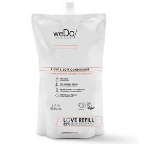 WEDO LIGHT & SOFT ACONDICIONADOR 1000 ml - cabello fino - recambio reciclable