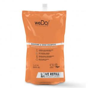 WEDO MOISTURE & SHINE CHAMPU 1000 ml - cabello dañado o normal  - recambio reciclable