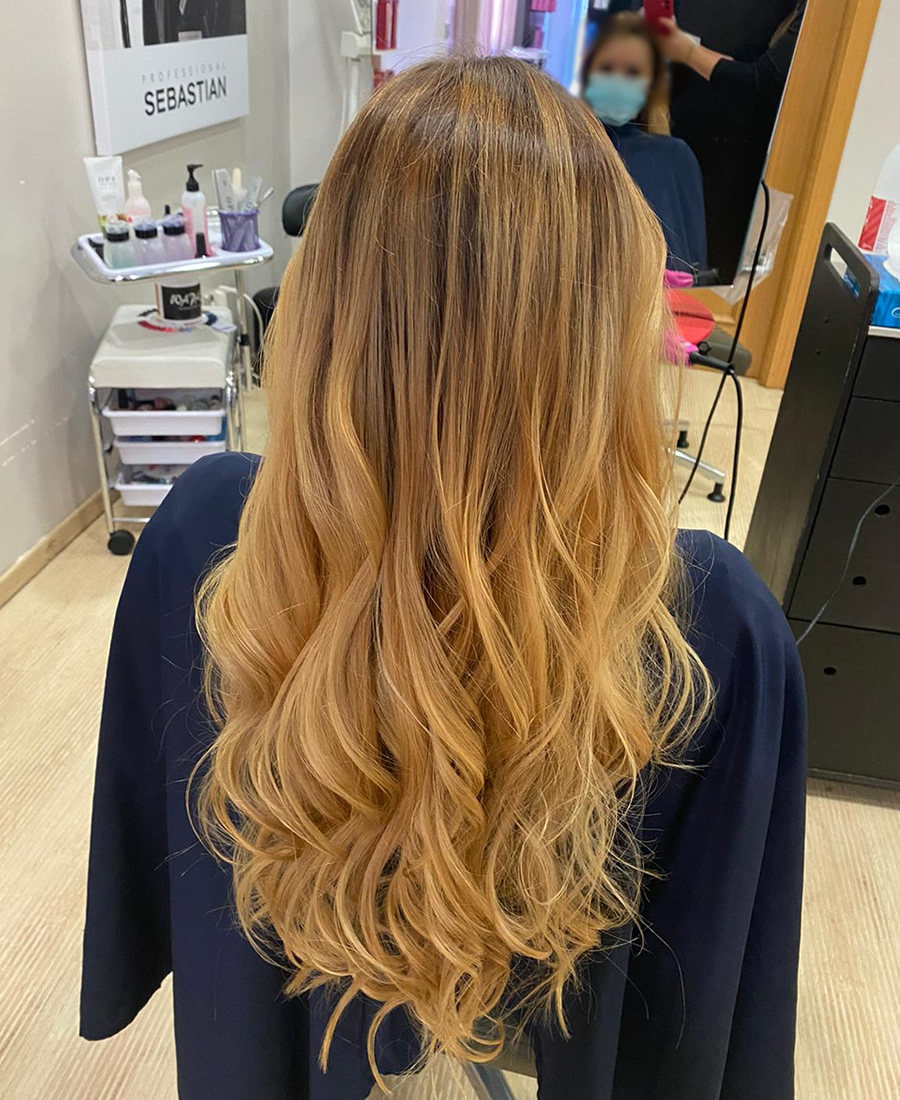 coloracion cabello balayage rubio