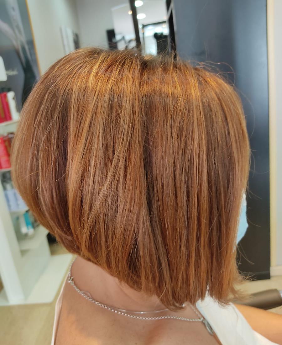 coloracion cabello tono rojizo