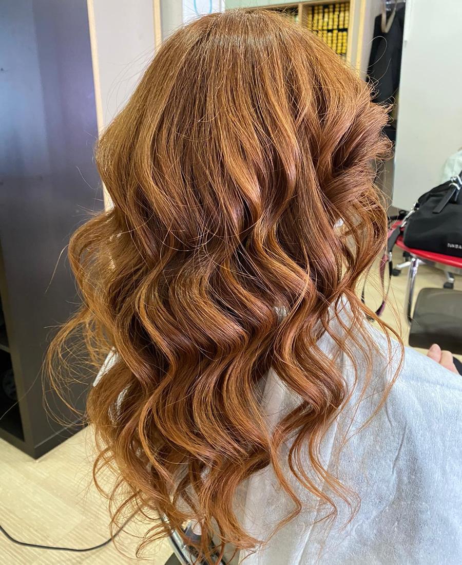 coloracion cabello tono bronce
