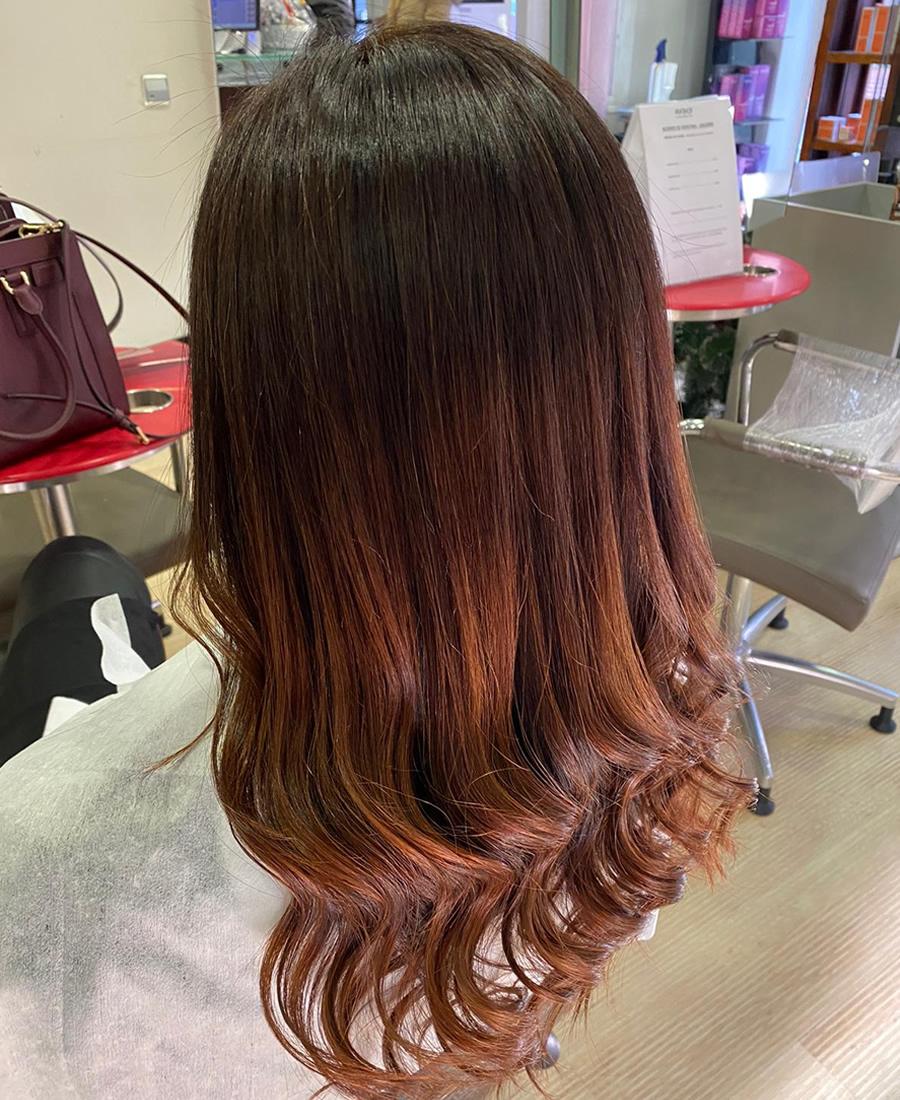 coloracion cabello tonos naranjas