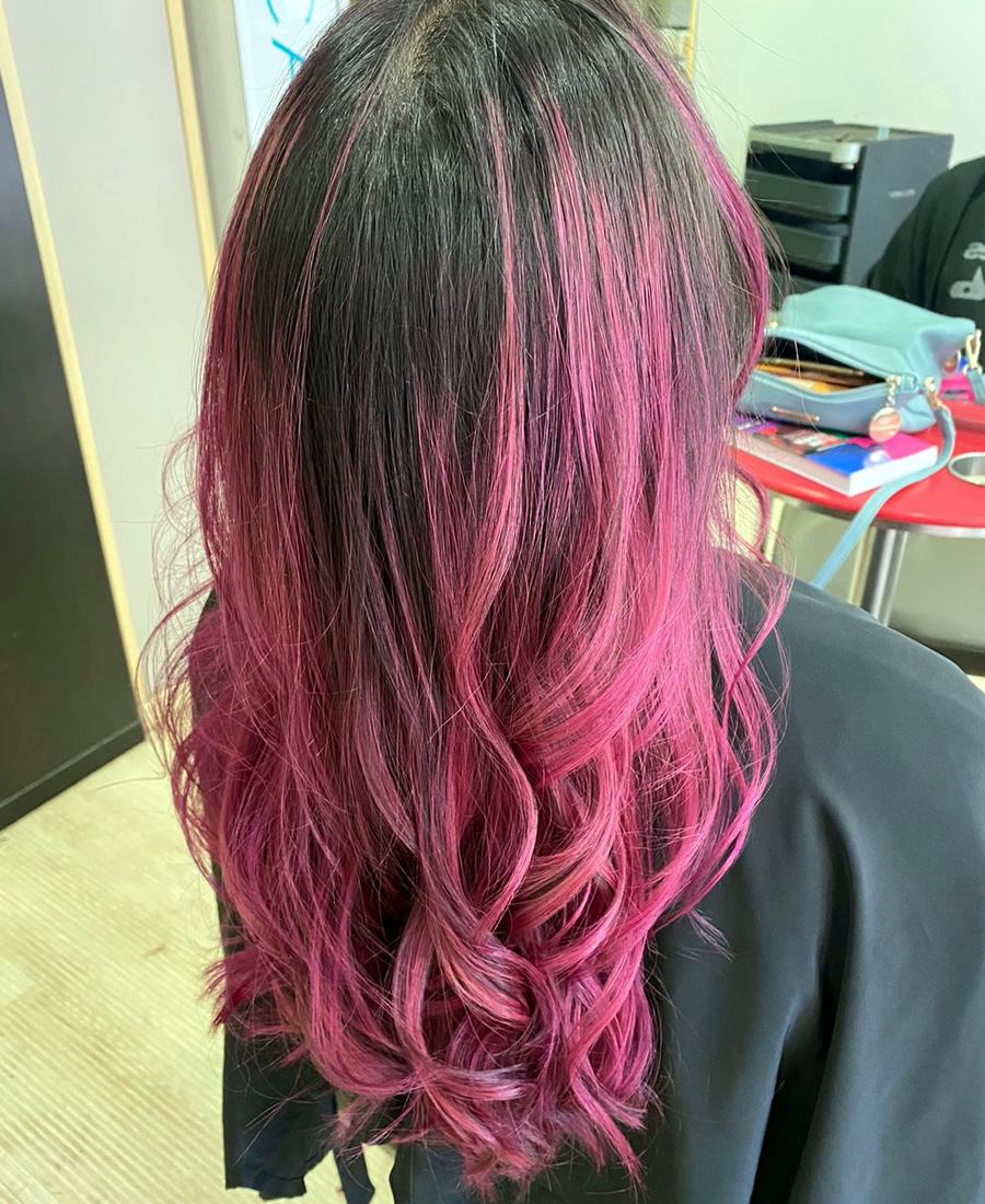 coloracion cabello elumen rosa