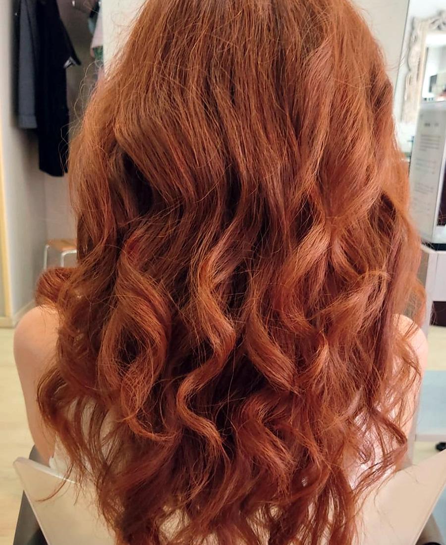 coloracion cabello color naranja