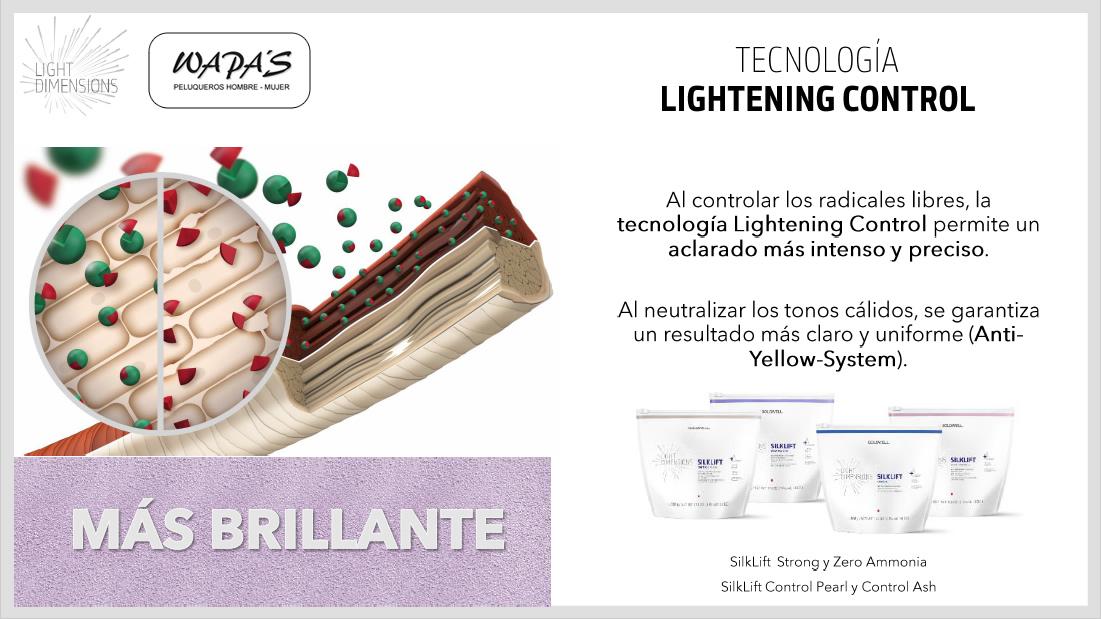 goldwell light dimensions tecnologia lightening control