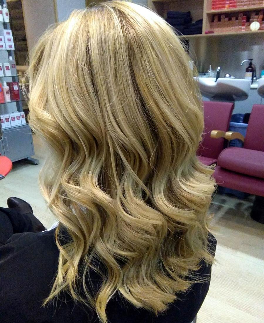 peinado ondas bajas