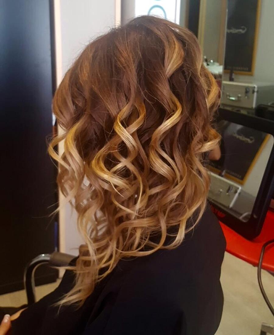 peinado ondas marcadas