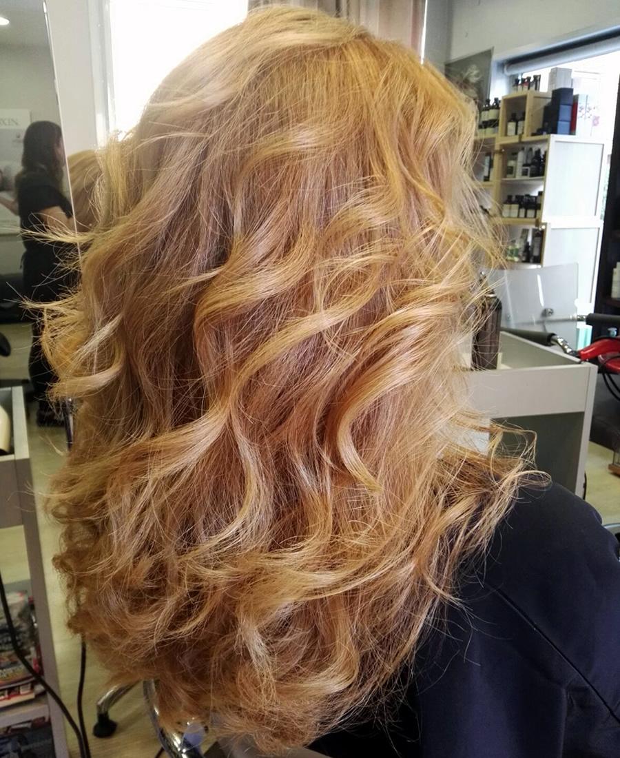 peinado ondas con volumen