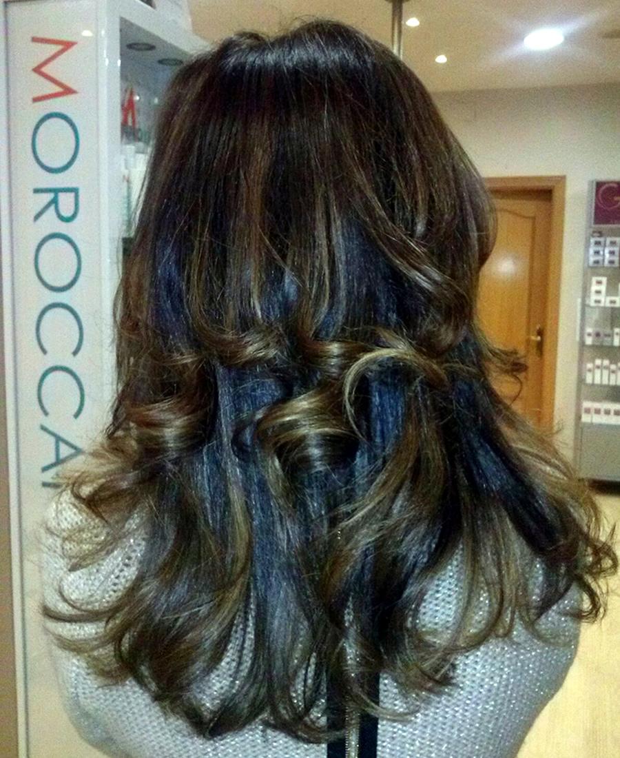 peinado con ondas cabello largo