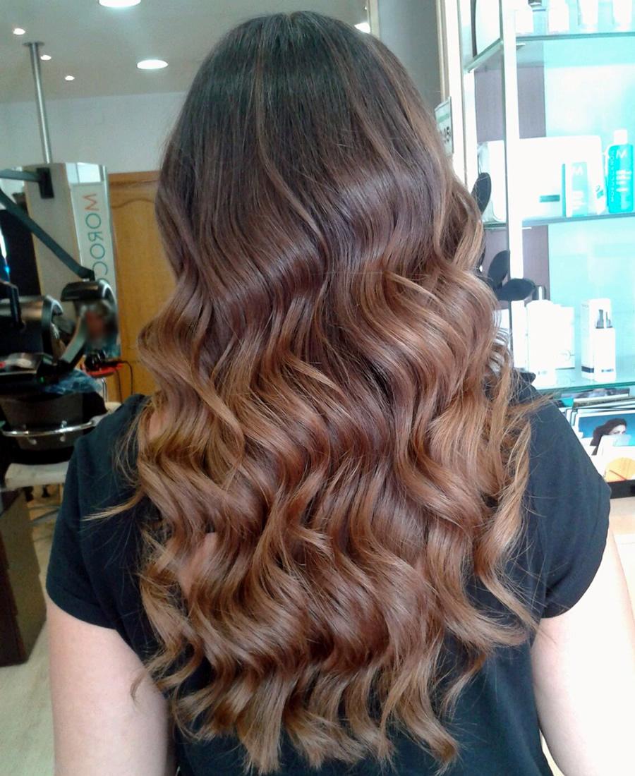 peinado ondas melena larga