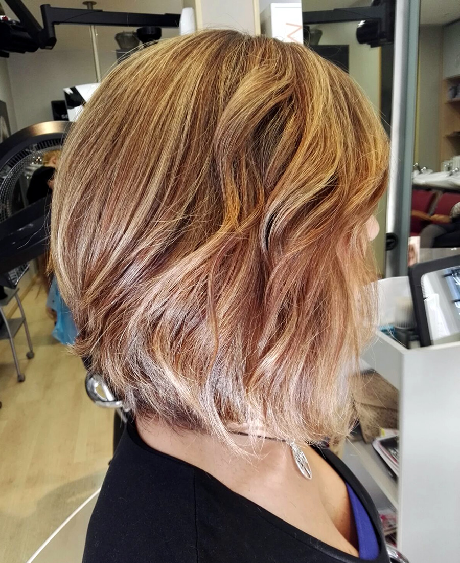 peinado de ondas media melena